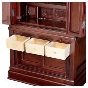 岸佛光堂オリジナル仏壇「仏光」板扉一枚型 紫壇系 ー 引出し