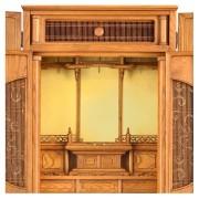 特選オリジナル仏壇「誉」板円窓 ホワイトアッシュ ー 欄間