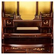 岸佛光堂オリジナル仏壇「山茶花」無垢使用 板扉一枚型 ー 隠し収納