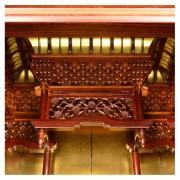 岸佛光堂オリジナル仏壇「京雅」仕込壇 板扉型 紫檀 ー 空殿