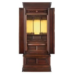 岸佛光堂オリジナル仏壇「光山」板扉一枚型 ー 正面