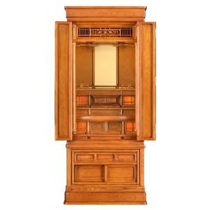 岸佛光堂オリジナル仏壇「秀光」板扉一枚型 ー 正面