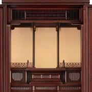 岸佛光堂オリジナル仏壇「仏光」仕込壇 板扉型 ー 欄間